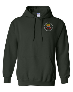 1-75th Ranger Battalion-Original Scroll-Tab Embroidered Hooded Sweatshirt