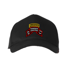 2-75th Ranger Battalion-Original Scroll-Tab Baseball Cap