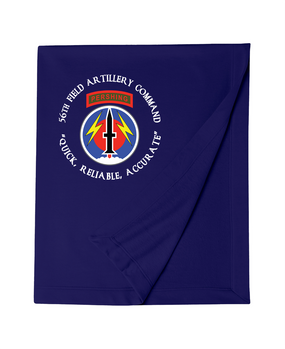 56th Field Artillery Command Embroidered Dryblend Stadium Blanket (C)