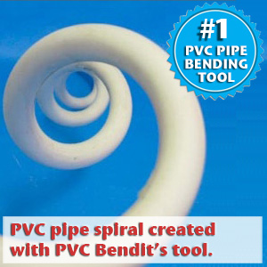 pvc pipe spiral bend created with PVC Bendit's tool