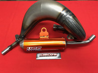 HGS KTM SX85 2018 EXHAUST SYSTEM WITH ORANGE MUFFLER