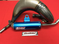HGS HUSQVARNA TC85 2018 EXHAUST SYSTEM WITH BLUE MUFFLER