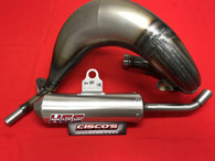 HGS KTM SX85 2018 EXHAUST SYSTEM WITH SILVER MUFFLER