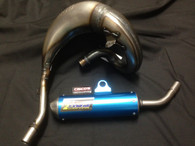 Husqvarna TC65 2009-2015 HGS EXHAUST SYSTEM WITH BLUE MUFFLER