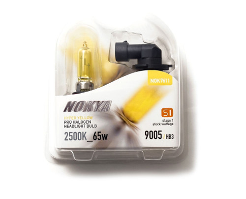 nokya nok7611 yellow jdm high beams daytime running lights drl's 9005