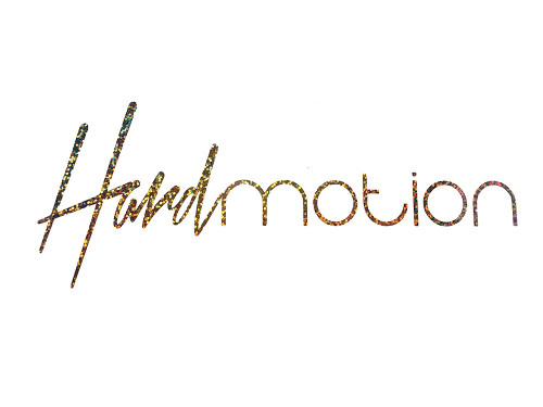 HARDmotion sparkle hologram sticker 9inch