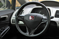 06-11 Honda Civic Real Carbon Fiber Steering Wheel Trim