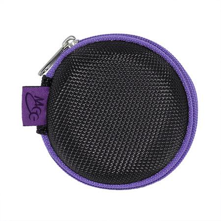Nylon Round Zipper Carrying Case for Earphones