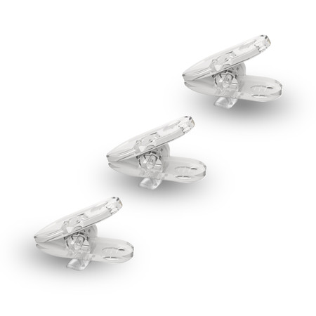 Original Shirt Clip for Earphones (3 Piece Set) - Clear
