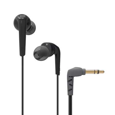 RX18 Comfort-Fit In-Ear Headphones with Enhanced Bass (Black)