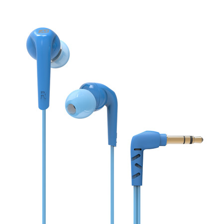 RX18 Comfort-Fit In-Ear Headphones with Enhanced Bass (Blue)
