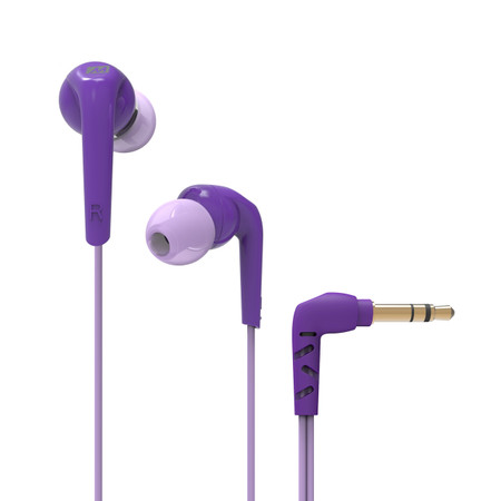 RX18 Comfort-Fit In-Ear Headphones with Enhanced Bass (Purple)