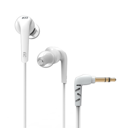 RX18 Comfort-Fit In-Ear Headphones with Enhanced Bass (White)