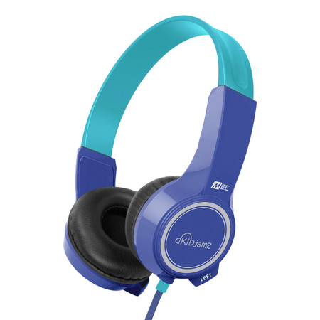 KidJamz KJ25 Safe Listening Headphones for Kids with Volume-Limiting Technology (Blue)