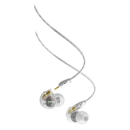 M6 PRO Universal-Fit Noise-Isolating Musician's In-Ear Monitors with Detachable Cables (Clear)