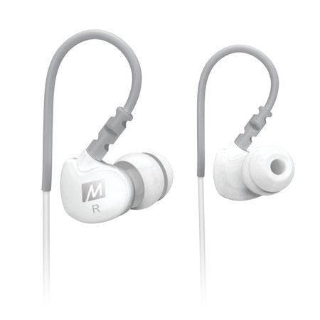 M6 Memory Wire In-Ear Headphones (White)