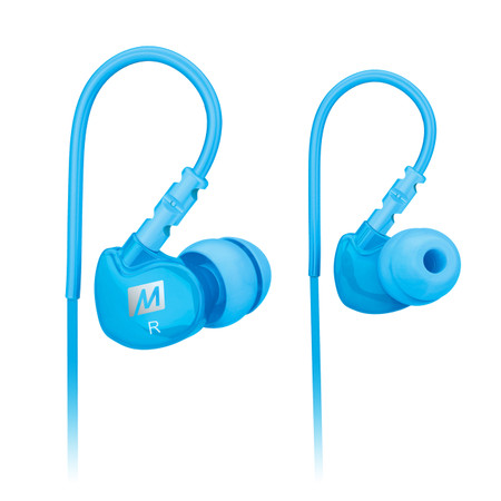 M6 Memory Wire In-Ear Headphones (Teal)