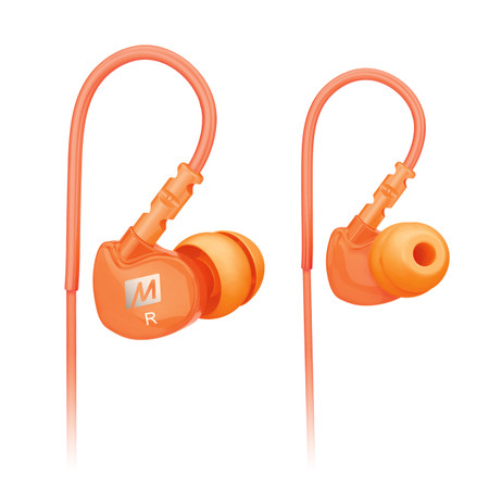 M6 Memory Wire In-Ear Headphones (Orange)