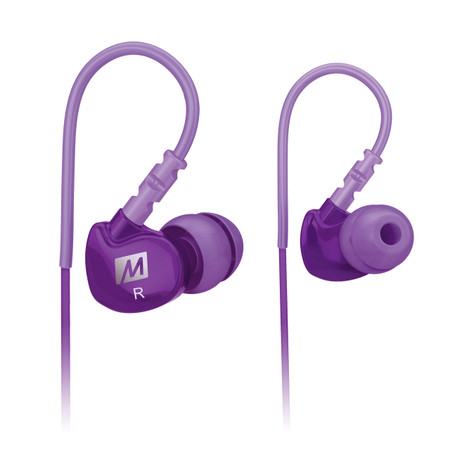 M6 Memory Wire In-Ear Headphones (Purple)