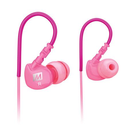 M6 Memory Wire In-Ear Headphones (Pink)