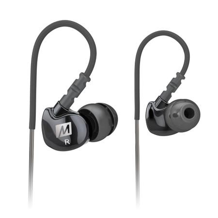 M6 Memory Wire In-Ear Headphones (Black)