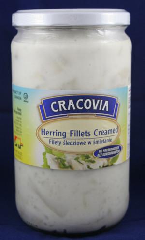 Herring Fillets Creamed Filety Sledzieowe w Smietanie