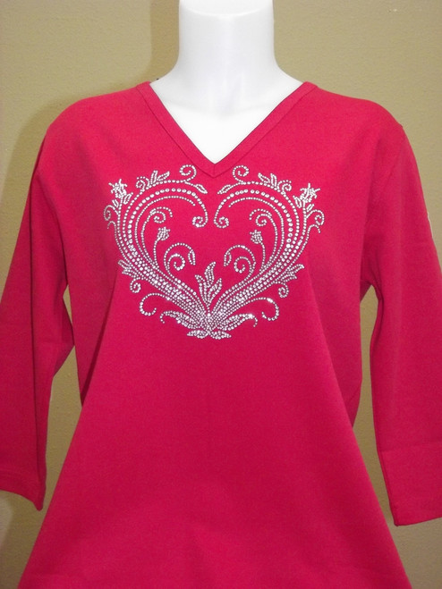 Valentine Heart Red Knit Top