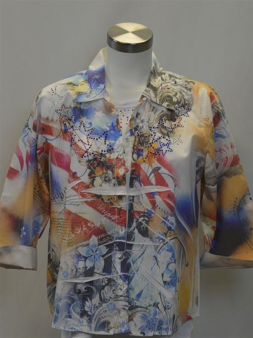 Stars and Stripes Sublimation Blouse