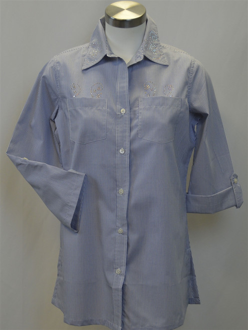Ladies Pinstripe Blouse 1