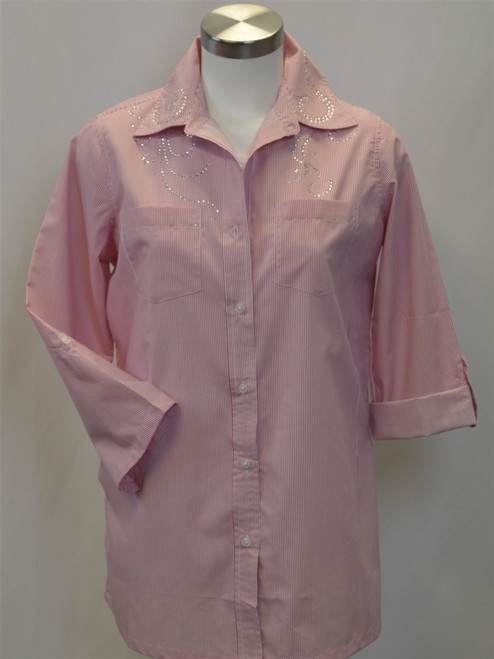 Ladies Pinstripe Blouse 2