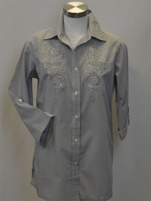 Ladies Pinstripe Blouse