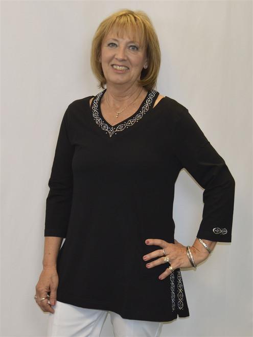 Necklace Long Tunic-Black