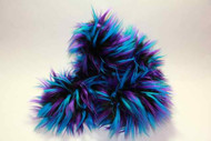 Crazy Fur Soakers - CF19 - Black, Turquoise and Purple Crazy Fur