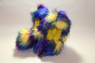 Crazy Fur Soakers 03GCF - Glitter Crazy Fur - Yellow, Blue & Purple