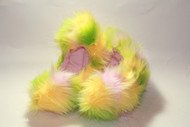 Crazy Fur Soakers 04GCF Lime, Pink & Yellow