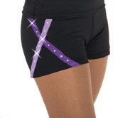 456 X-Bling Ice Skating Shorts Purple