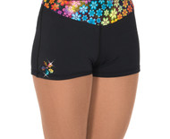S414 Crazy Daisy Ice Skating Shorts