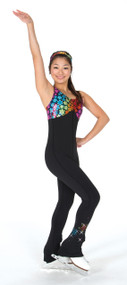 S714 Crazy Daisy Ice Skating Catsuit