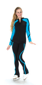 S240 Supplex Ribbon Ice Skating Jacket - Blue