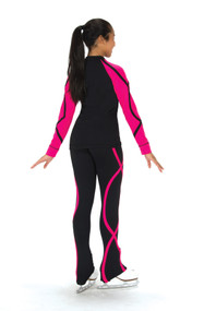 S240 Supplex Ribbon Ice Skating Jacket - Pink