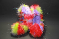07GCF - Glitter Crazy Fur - Red, Lavender & Lime