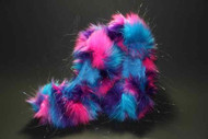 02GCF - Glitter Crazy Fur - Turquoise, Pink & Purple - NEW!!!