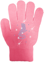 ChloeNoel Ice Skating Gloves - GV22-PK/Skate Crystals