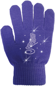 ChloeNoel Ice Skating Gloves - GV22-PR/Skate Crystals