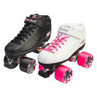 Riedell Quad Roller Speed Skates - R3 Black or White
