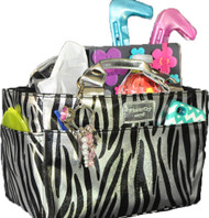 Ice Rink Tote - Sassy Silver Zebra by Kiss and Cry Angels