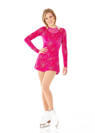 Mondor 12902 Fuji Fantasy On Ice Mesh Neckline Figure Skating Dress
