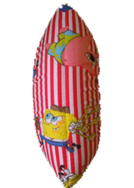 Puffy Figure Skating Soakers- Spongebob- Red &White Stripes