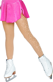 ChloeNoel Footed Ice Skating Tights 3330 Medium Tan - with Crystals Color is different then it appears on this photo, please see 3330 Medium Tan without the crystals to see how the color looks.