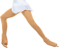 ChloeNoel Over the Boot Ice Skating Tights 3332 Medium Tan